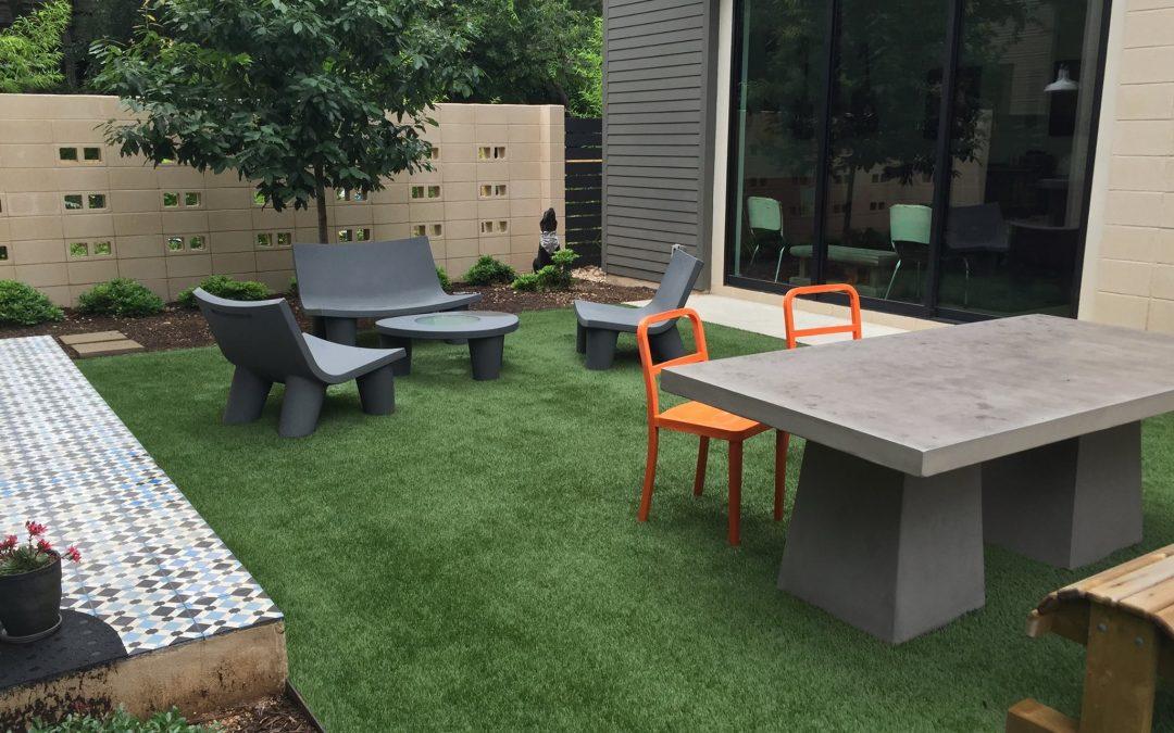 Artificial Grass Courtyard