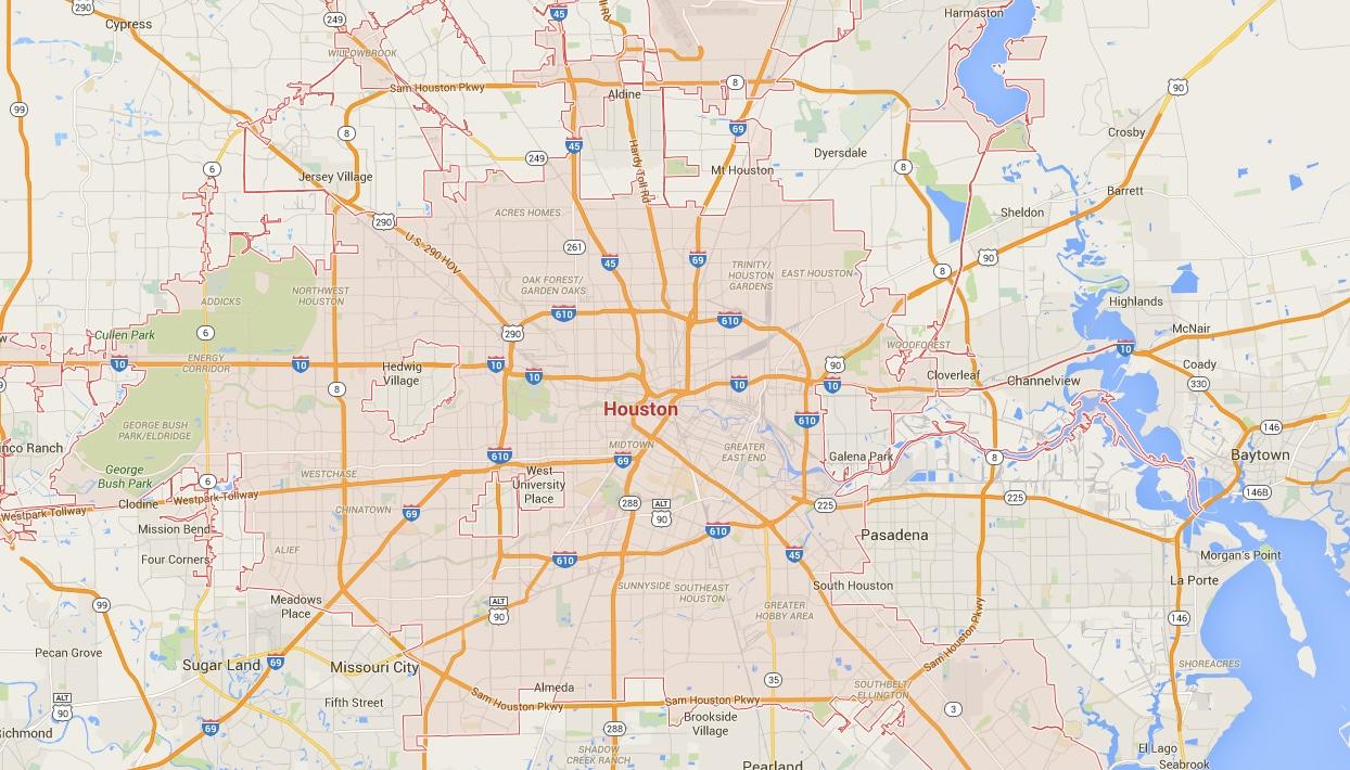 LawnPop Houston Map