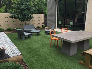 artificial grass courtyard lawnpop