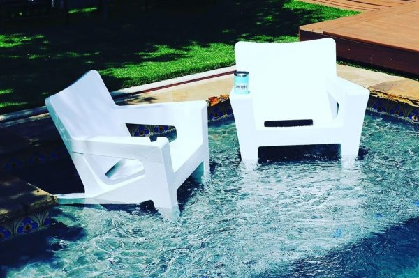 pool ledge chairs