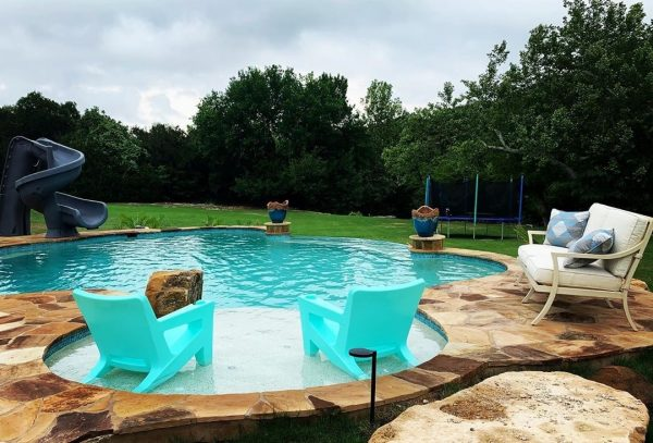 pool tanning ledge chairs